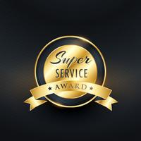 service award label ontwerp vector