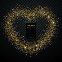 hjärtdesign med gyllene glitter