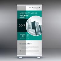corporate green modern standee roll up banner design for busines