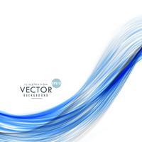 abstrakter blauer Wellenhintergrund gemacht mit Linien