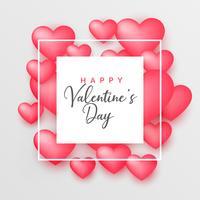 Schöner Hintergrund der rosa Herzen 3d für Valentinstag