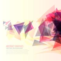 colorful abstract triangle shapes vector background
