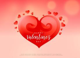 creatief rood hartontwerp voor de dag van de valentijnskaart