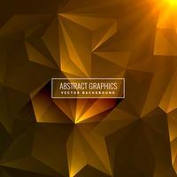 Fondo amarillo oscuro abstracto hecho con formas de triángulo
