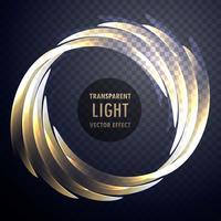 effet de lumière transparente brillant vecteur tourbillon fond