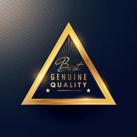 Bäst äkta kvalitet vacker guld märke etikett