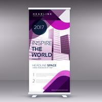 fantastisk affärer roll upp banner eller standee design mall