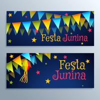 festa junina holiday festival banners set