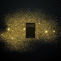 golden glitter vector transparent background