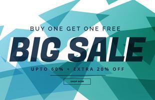 abstrakt stor försäljning rabatt banner mall