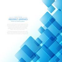 abstrait avec des formes carrées bleues