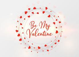 valentins dag hjärtan ram design