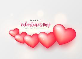 wunderschöne rosa Herzen, Valentinstag Hintergrund