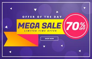 modern mega sale discount voucher template design