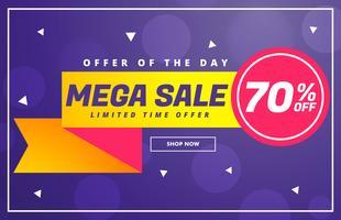 modern mega sale discount voucher template design