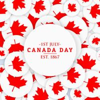1 ° luglio sfondo del giorno del Canada