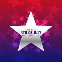 étoile d'argent brillante 4ème fond de juillet