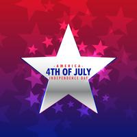 shiny silver star 4th of july background