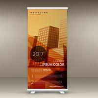 color vintage roll up standee diseño plantilla vector