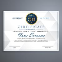 clean white certificate design template