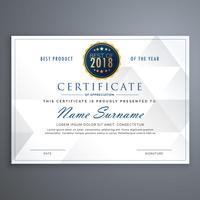 modèle de conception de certificat blanc propre
