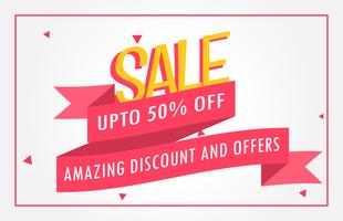 discount banner design voucher template