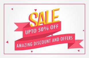 discount banner design voucher template