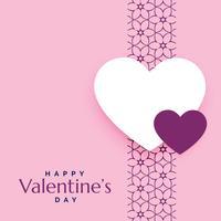 rosa romantisk kärleksbakgrund för valentins dag