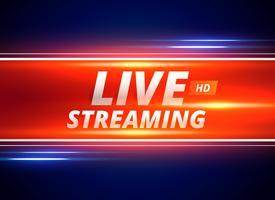 Transmisión en vivo de concepto de diseño para canales de noticias.