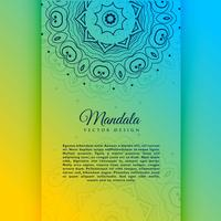 vibrant decorative mandala card invitation template