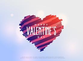 kreative Gekritzelherzen zum Valentinstag