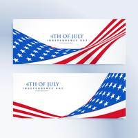 American Independence Day 4 luglio banner