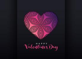 dekoratives Herzdesign für den Valentinstag