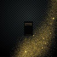 transparent golden glitter vector background