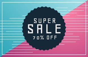 memphis style sale voucher banner with deal details