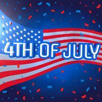 4 juillet fond de célébration avec des confettis