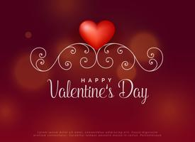 rood hart met florale decoratieachtergrond