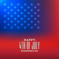 Fondo 4 de julio con bandera americana.