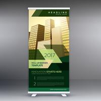 modern business roll up banner or standee design template