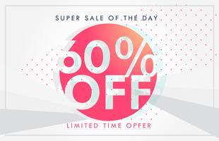 venda com desconto e ofertas de design de modelo de banner ou voucher