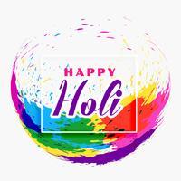 lycklig holi festival banner design