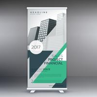 standee moderno enrollable plantilla de diseño con detalles de negocios