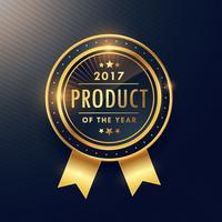 product van het jaar gouden etiketontwerp
