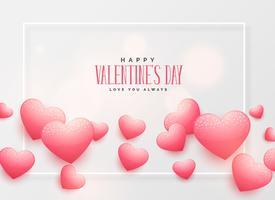 vackra rosa hjärtan bakgrund för valentins dag