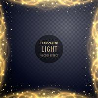 Fondo de efecto de luz de brillo dorado transparente