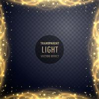 transparent golden sparkle light effect background