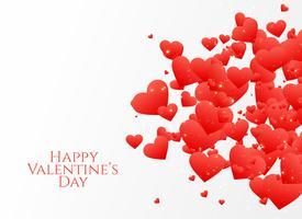 verspreid hartenontwerp voor de dag van de valentijnskaart