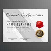 simple white certificate template design