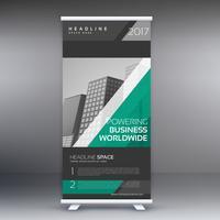 Empresa elegante roll up banner plantilla de diseño