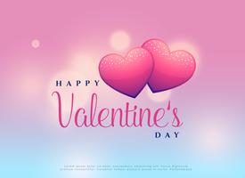 beautiful valentine's day design with two hearts